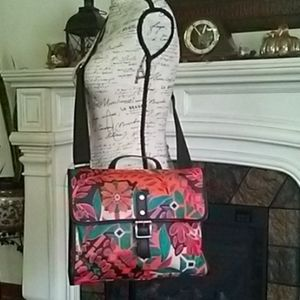 Fossil Cross Body Satchel Messenger Canvass